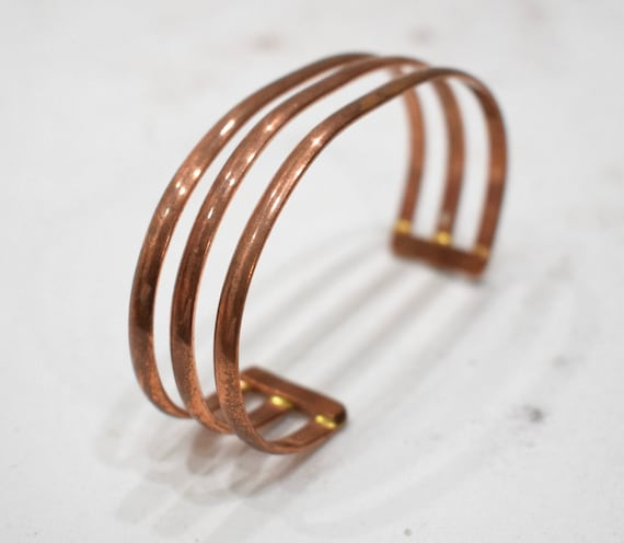 Bracelet 3 Band Copper Adjustable Healing Cuff Bracelet