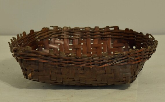 Basket Philippines Ifugao Woven Plate Bowl Rattan Ifugao Handmade Woven Rattan Eating Meals Food Plate Woven Basket
