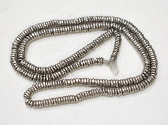 Beads African Silver Heishi 4mm