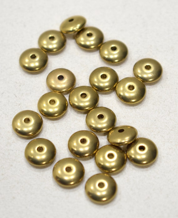 Beads Gold Rondelles 10mm