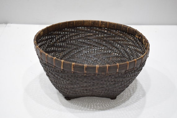 Basket Indonesian Round Brown Rattan Basket