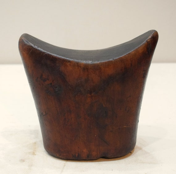 African Headrest Ethiopian Gurage Mens Wood Headrest 6.5""