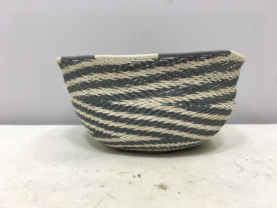 African Basket Zulu Old Telephone Wire Basket Handmade Hand Woven Telephone Wire Basket Home Decor Gift for Her Gift for Him Desk Display