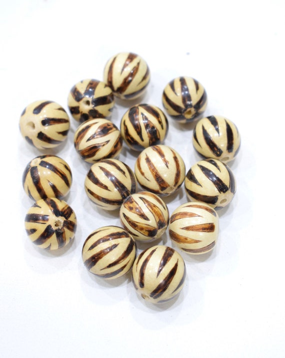 Beads Philippines Round Painted Wood 20mm