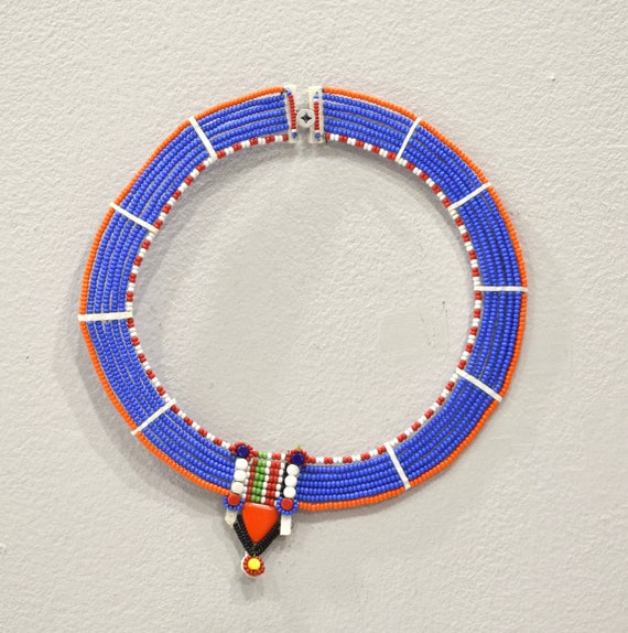 African Maasai Beaded Traditional Necklace Kenya