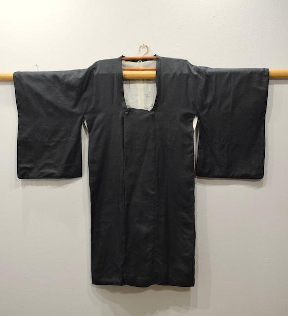 Kimono Japanese Black Button Kimono