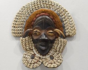 African Mask Dan Burnished Wood Mask