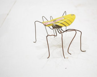African Folk Art Toy Spider Recycled Tin Can Spider Tanzania Vintage Toy Spider