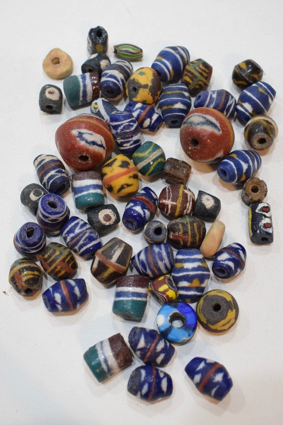 Beads African Sandcast Assorted Bag Vintage Beads 12mm - 26mm