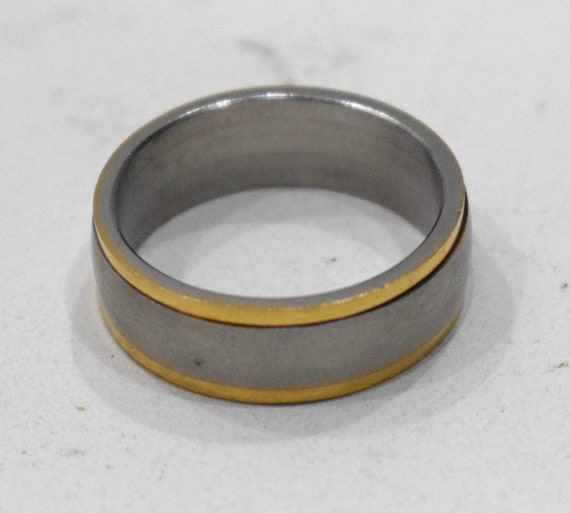 Ring Stainless Steel Etched Band Ring