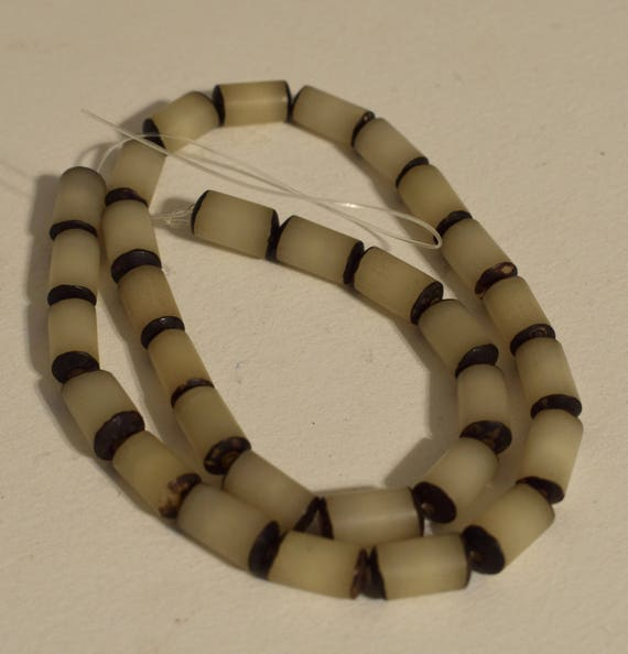 Beads Philippine Buri Nut Round Vintage Beads 12mm