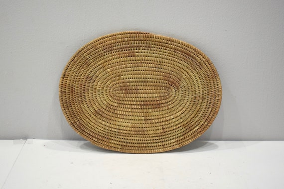 Basket Indonesian Placemats Natural Oval Rattan