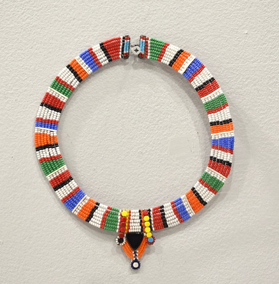 African Masai Beaded Traditional Necklace Kenya
