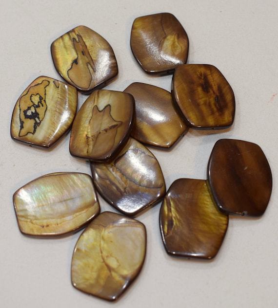 Beads Capiz Gold Shell Oval Beads Necklaces Shell Beads 30mm
