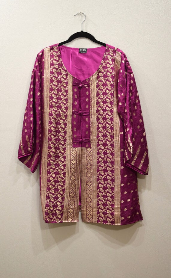 Jacket Silk Burgundy Brocade Jacket