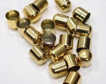 Beads Gold Metal Bead Caps 12mm