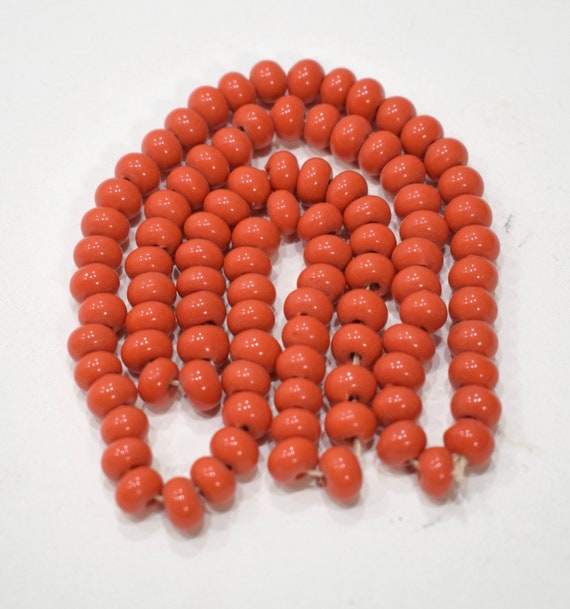 Beads Chinese Coral Glass Beads 8mm