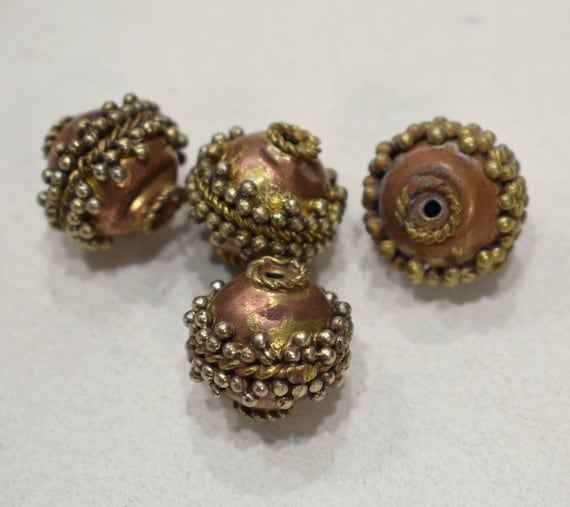 Beads India Copper Brass Beaded Bead 18mm