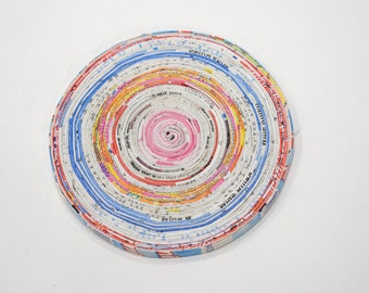 """Coasters Assorted Recycled Paper Coasters 5"""""""