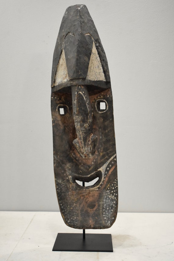 Papua New Guinea Mask Old Yena Yam Wood Maprik Tribe 34""