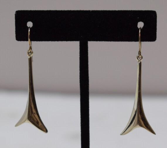 Earrings Sterling Silver Long Abstract Dangle Earrings 50mm