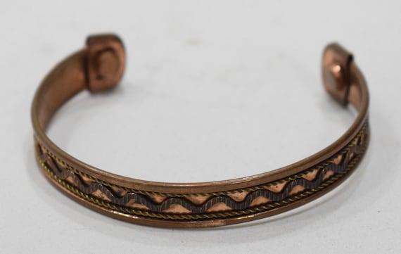 Bracelet Copper Brass Woven Cuff Healing Bracelet
