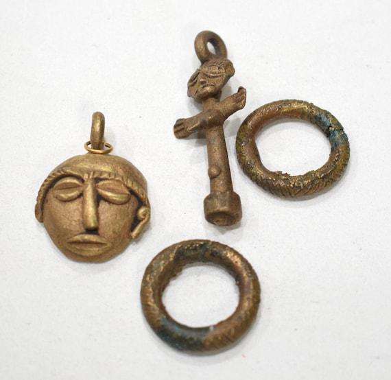Beads African Assorted Brass Beads Ghana 26-50mm