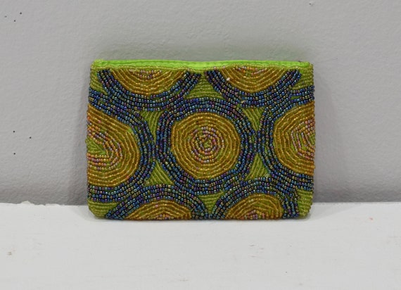 Purse Beaded Multi Colored Small Clutch Purse