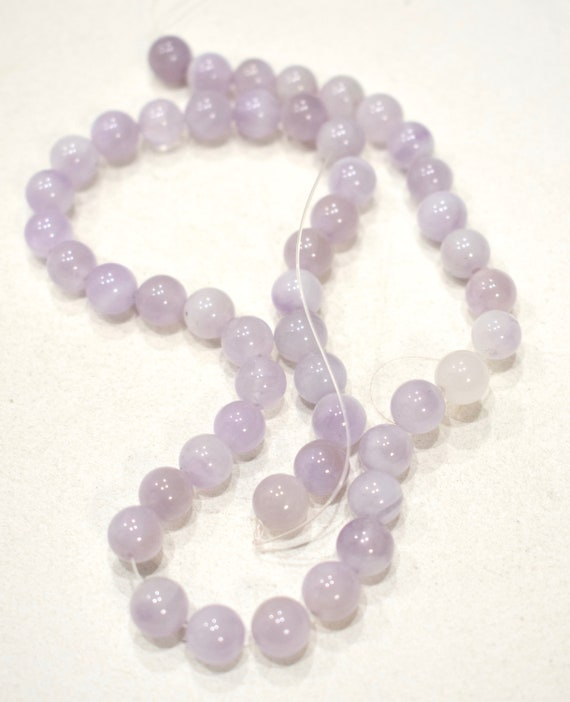 Beads Amethyst Milky Lavender Round Beads 8-9mm