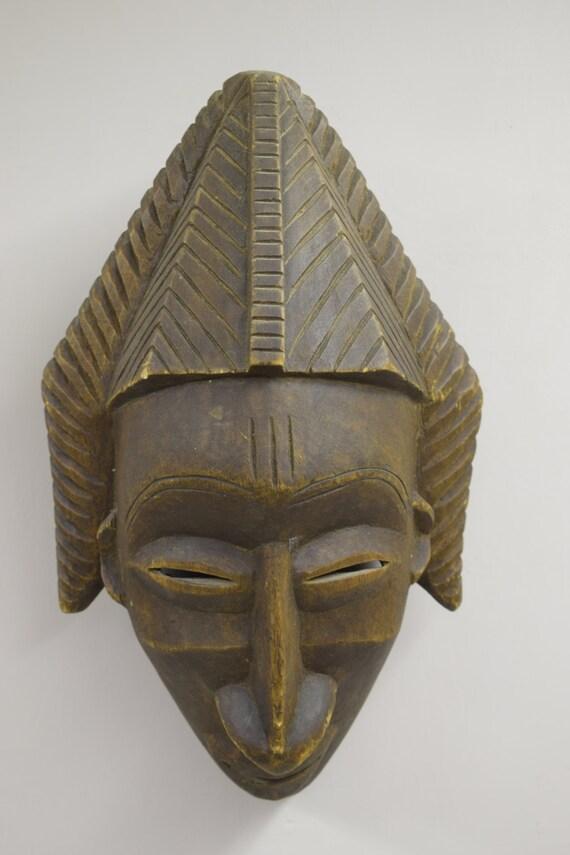 Mask Africa Senufo Cote d'Ivoire Kpelie Mankind Wood Mask Senufo Mask Handmade Unity Mask Beauty Woman Man Marriage  Unique Statement