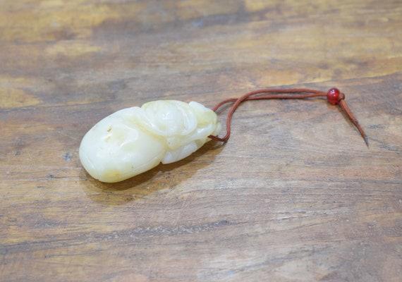 Carving Chinese Nephrite Light Jade Lotus #2