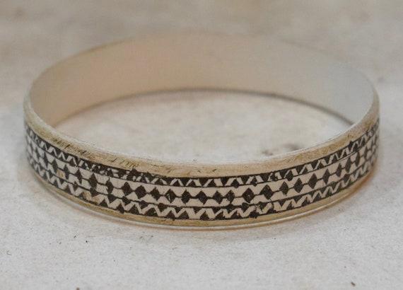 African Bracelet Oval Etched Plastic Bracelet Himba Tribe Namibia African Bracelets