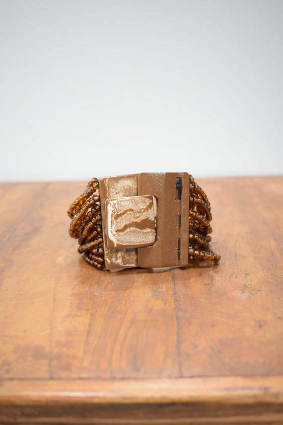 Bracelet Beaded Copper Hand Painted Buckle Clasp Bracelet