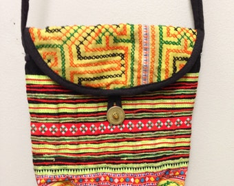 Chinese Purse Hmong Embroidered Hill Tribe Shoulder Bag