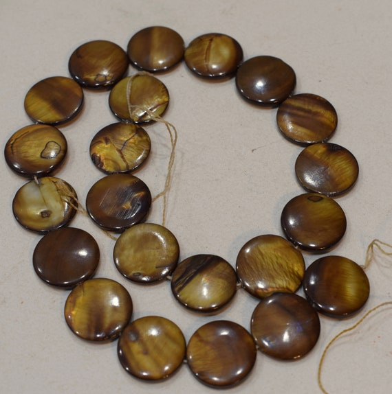 Beads Capiz Gold Shell Round Beads Necklaces Shell Beads 18mm