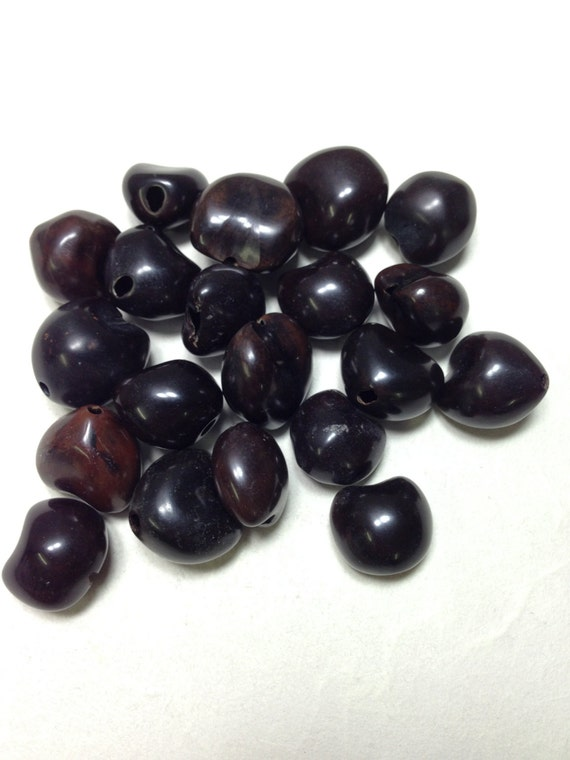 Beads Philippines Brown Lumbang Seed 25x26mm Handcrafted Jewelry Necklaces Earrings Bracelet #044