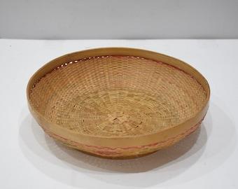 Basket Indonesian Round Rattan Basket