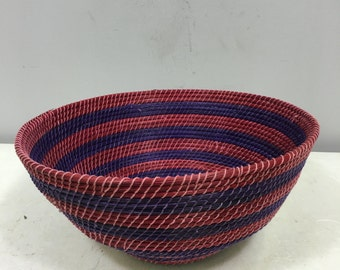 Basket African Lesotho Tribe Colored Woven Basket South Africa