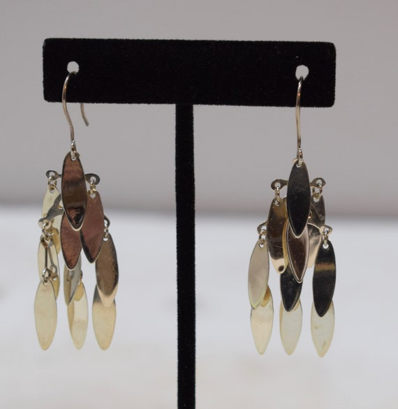 Earrings Sterling Silver Leaf Tier Drop Earrings 58mm
