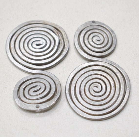 Beads Old Masai/Turkana Aluminum Pendants 56mm