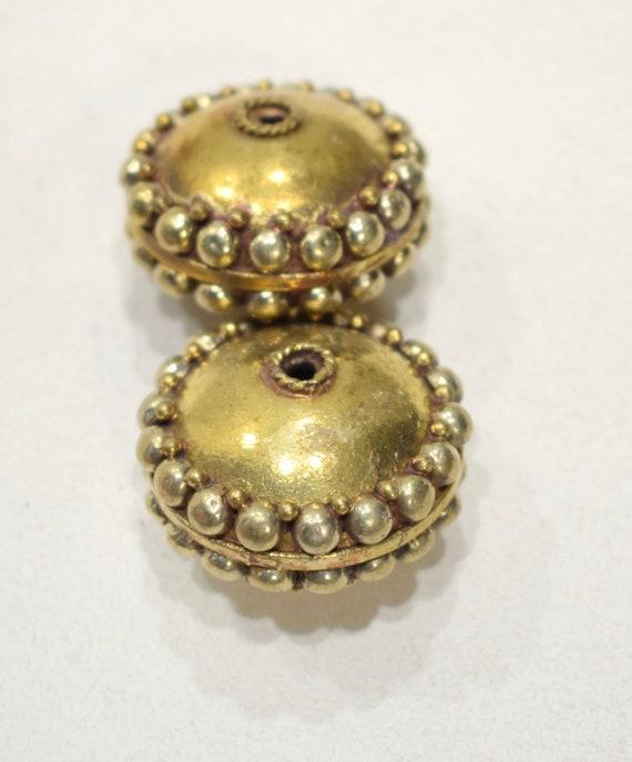 Beads India Brass Ornate Beads 34mm