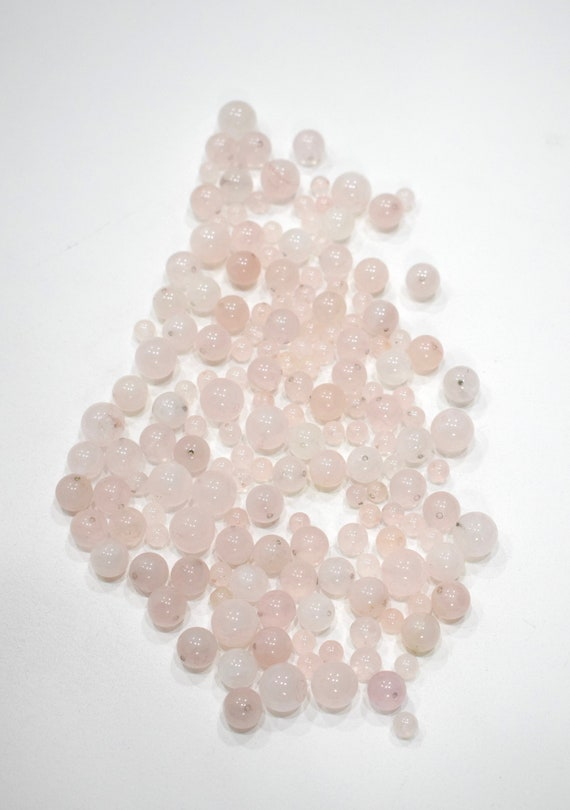 Beads Assorted Rose Quartz Beads 6-14mm