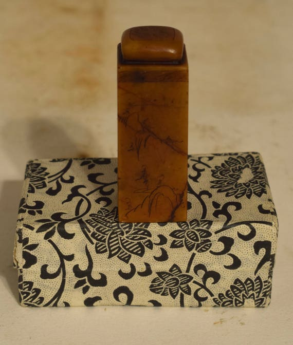 Chinese Chop Seal Carved Soapstone Signature Seal Stamp Identification Signatures Seals