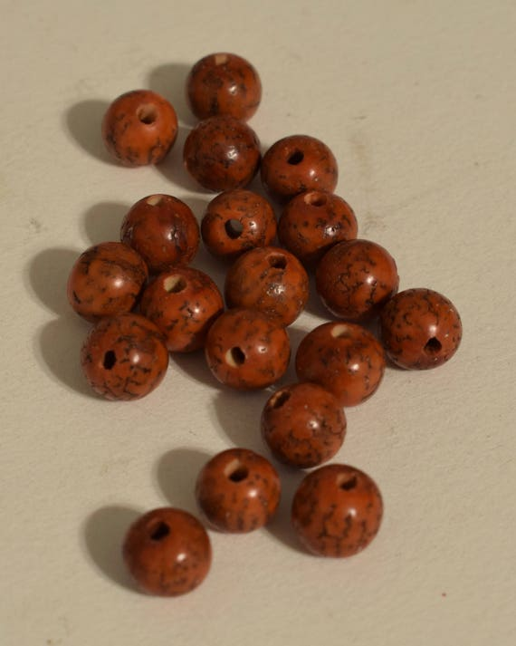 Beads Philippine Orange Betel Nut Beads 10mm
