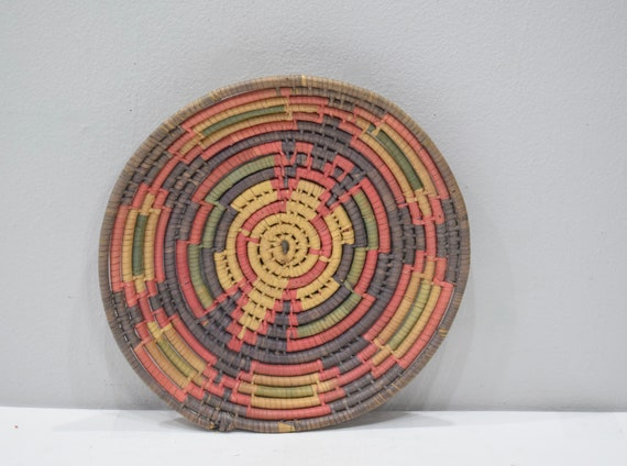 Basket Ethiopian Woven Round Basket