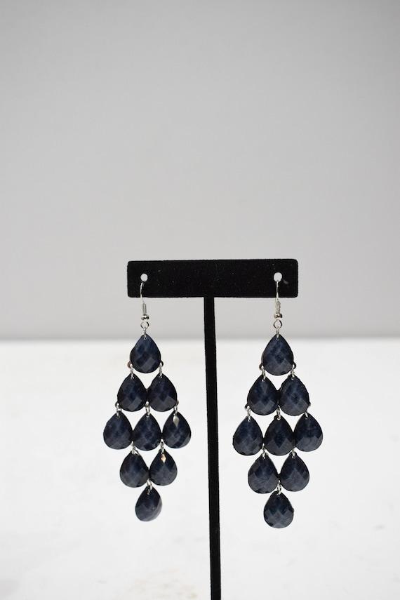 Earrings Black Acrylic Waterfall Earrings
