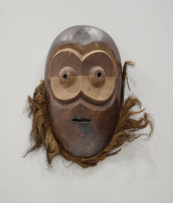 African Mask Lega Bearded Wood Mask DRC