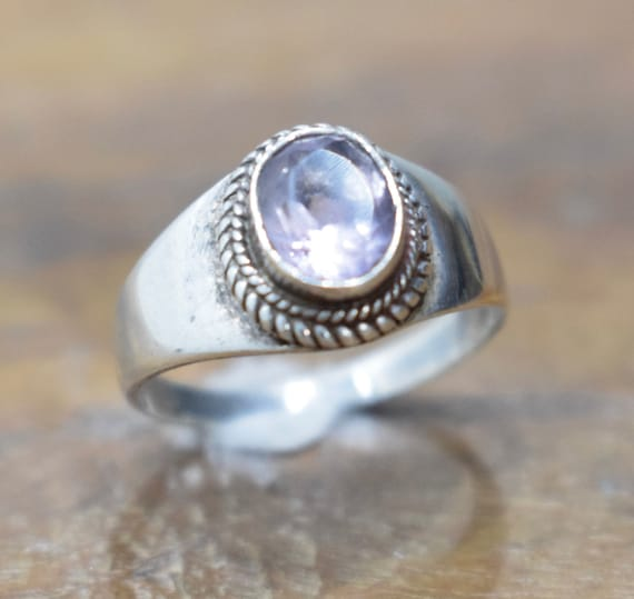 Ring Sterling Silver Ameythst Stone Ring