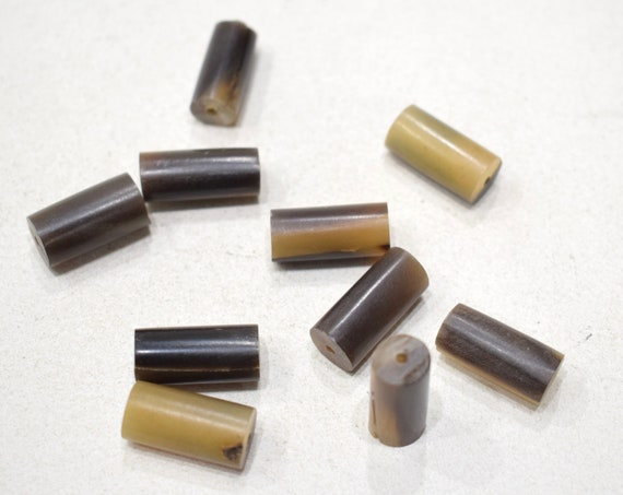 Beads Philippines Brown Buff Horn Tubes 20mm