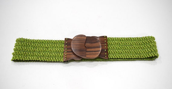 Belts Indonesian Beaded Stretch Assorted Colored Belts